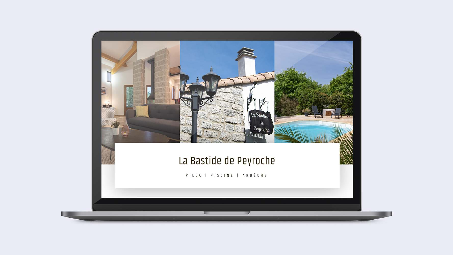 Site internet Bastide de Peyroche by JLF Agency