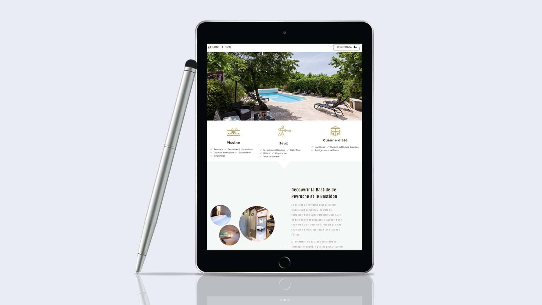 Site internet responsive design Bastide Peyroche by JLF Agency