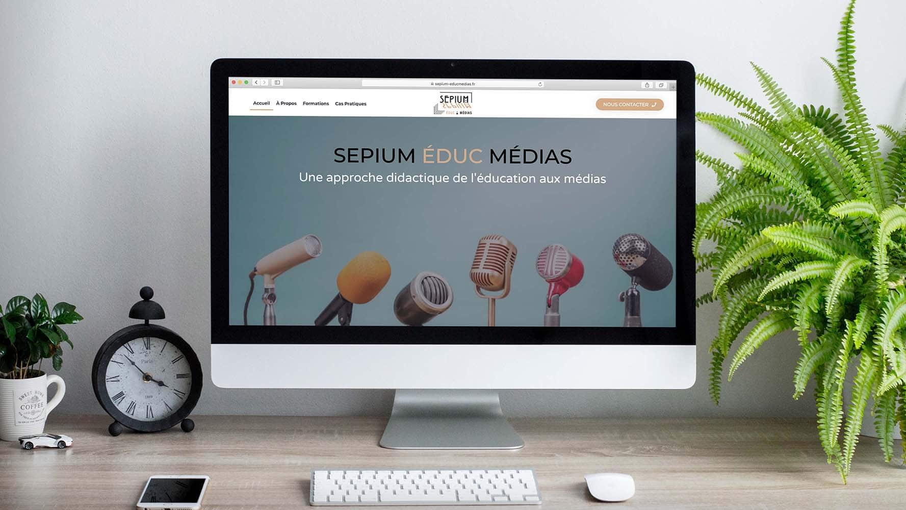 Site vitrine Sepium Éduc Médias par JLF Agency